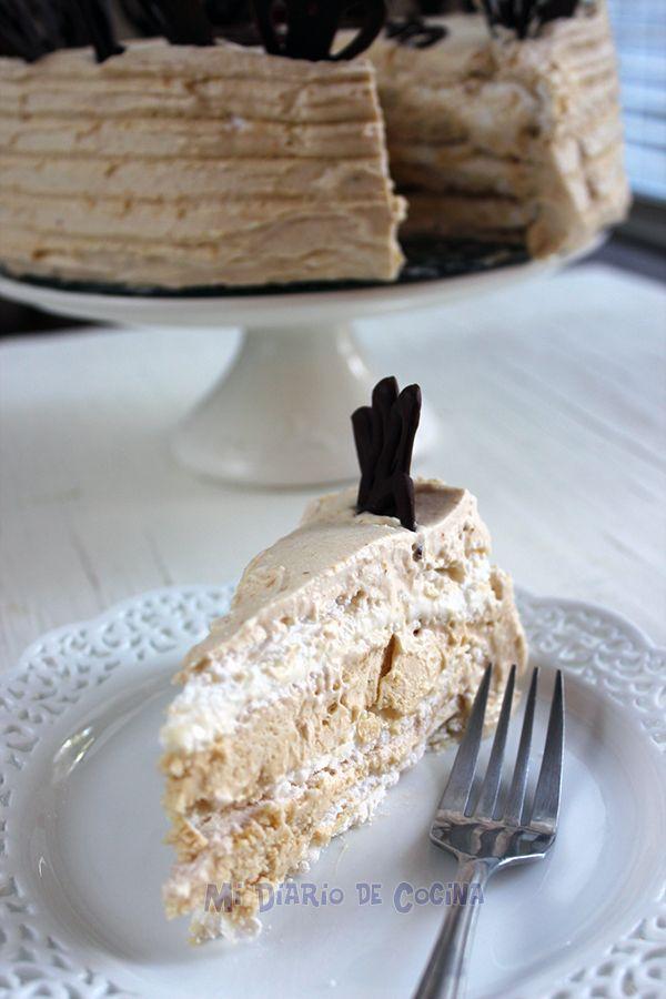 Mi Diario de Cocina   Torta de merengue lúcuma   http://www.midiariodecocina.com