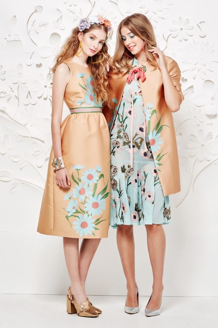 GARDEN OF FLOWERS DRESS, FRILL & PEAK COAT, TRUTH OR FLARE DRESS