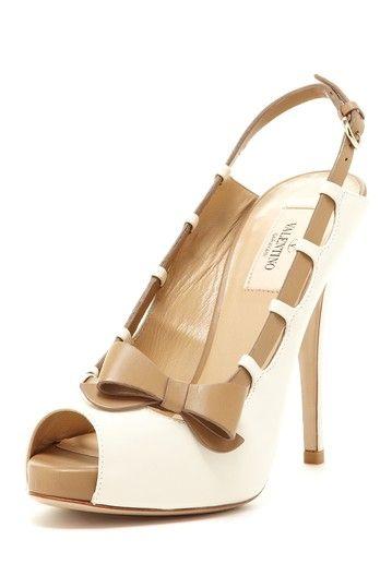 Valentino Side Bow Peep Toe Pump by Designer Shoe Shop on @HauteLook