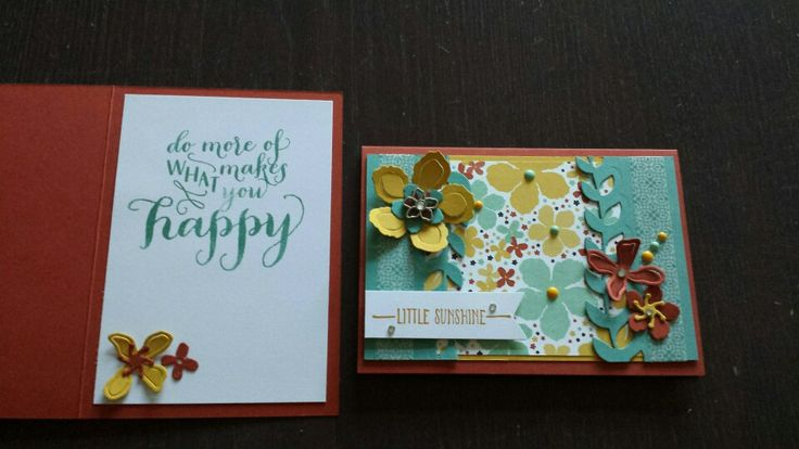 Botanical blooms and inside card.