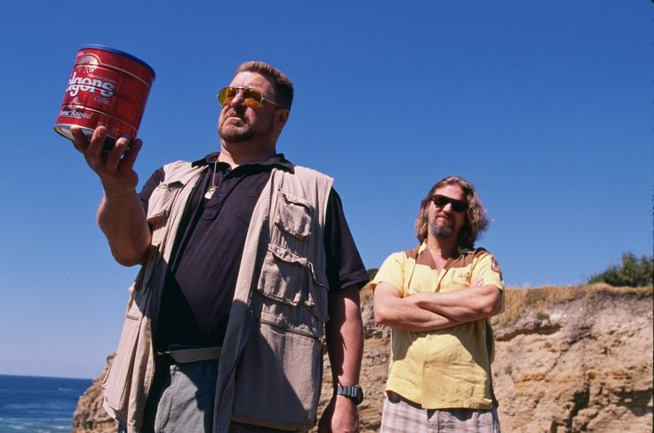 John Goodman as Walter Sobchak with Jeff Bridges as The Dude in #TheBigLebowski (1998).