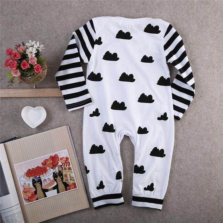 2016 Ne ж ребенка ползунки С Длинным рукавом мальчик девочка одежда одежда для новорожденных случайные девочка одежда для новорожденных костюм малышакупить в магазине Special DealнаAliExpress
