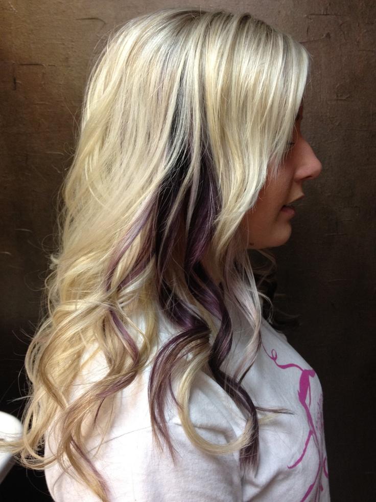 50 best hair color images on pinterest awesome hair balayage base color blonde and violet peek a boos purple peekaboo highlightspeekaboo hairmake pmusecretfo Images