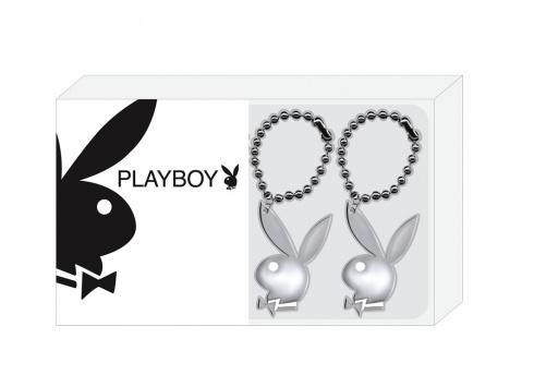 PLAYBOY HANGER  Porta chiave in metallo con ciondolo Playboy