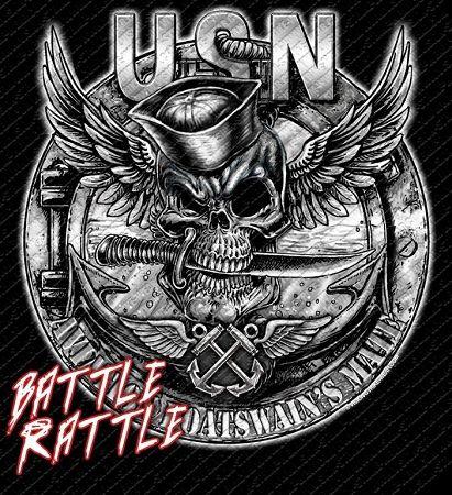 Navy Rate Jolly Roger Skull Military Shirts $17.76