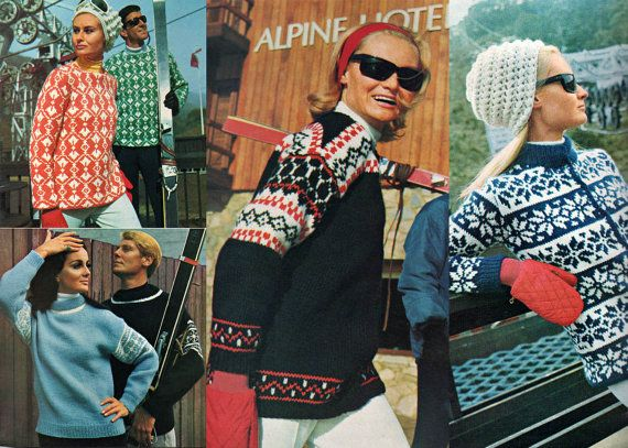 1960s Vintage Knitting Pattern Booklet by allthepreciousthings