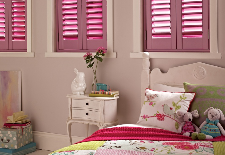 Pretty in pink - Choose from twelve stunning gem tones mirror colours to reflect your style.  #Luxaflex #InteriorShutters #MirroredInteriors #Interiors
