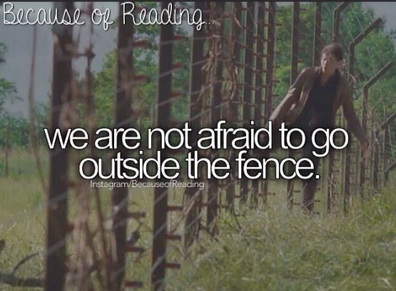 Because of Reading... hunger games this can apply to DIVERGENT as well<< and kind of maze runner also
