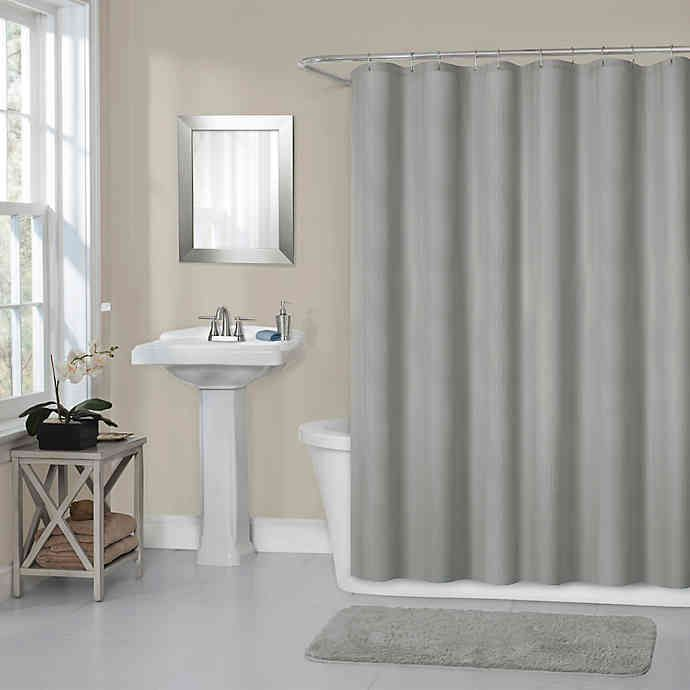 Titan 70 Inch X 72 Inch Waterproof Fabric Shower Curtain Liner In
