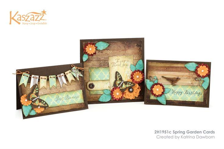 2H1951c Spring Garden Cards