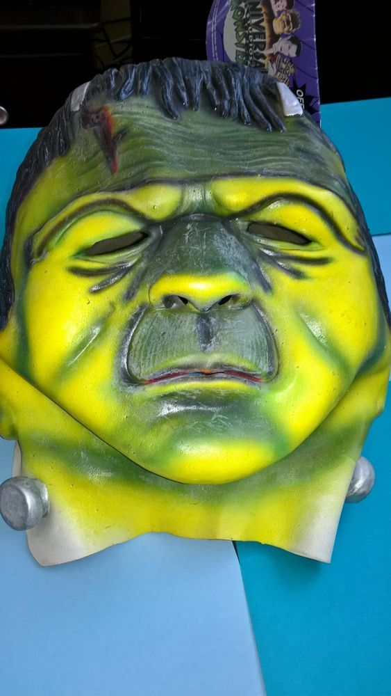 Universal Monsters Frankenstein Mask Halloween Adult Large XL Scary Latex Mask | eBay