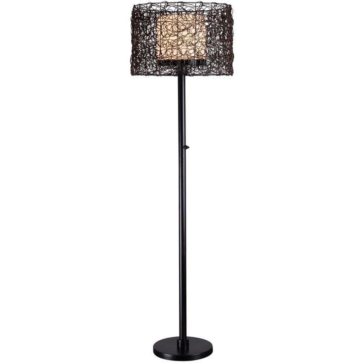 Twig Shade Outdoor Floor Lamp
