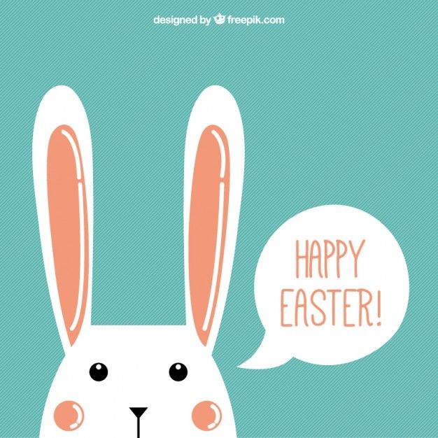 Nice bunny happy easter background Premium Vector