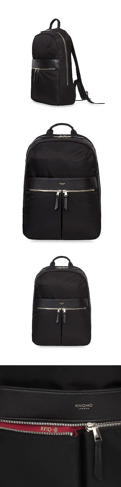 Briefcases and Laptop Bags 169293: Knomo London Womens Mayfair Beauchamp Backpack Black -> BUY IT NOW ONLY: $204.19 on eBay!