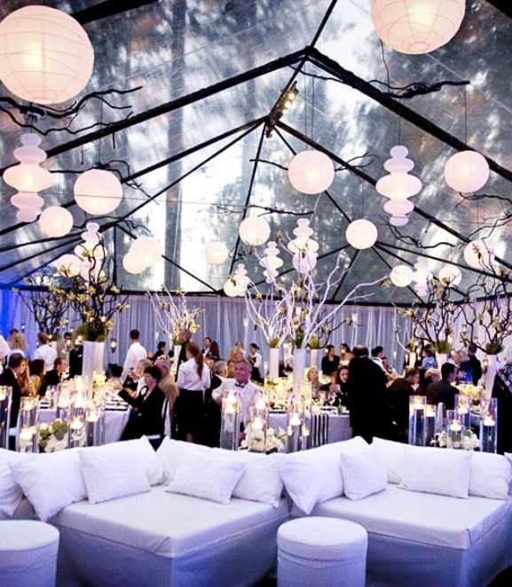 Outdoor Wedding Receptions | Outdoor Tent Wedding Receptions ideas Archives | Weddings Romantique: Outdoor Wedding, Tent Wedding, Paper Lanterns, Wedding Decor, Tent Decor, Lounges Furniture, Wedding Reception, Lounges Area, Clear Tent