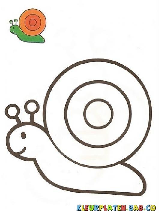 caracolito met het monster Kleurplaten | KLEURPLATEN MET VOORBEELDEN | Tekening van een slak met een monster schilderij | kleurplaten.8a8.co