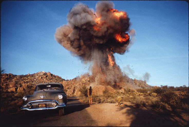 ZABRISKIE POINT, 1970 - Photo de Danny Lyon 1970. Sur le tournage de Zabriskie Point de Michelangelo Antonioni © Danny Lyon / Magnum Photos.