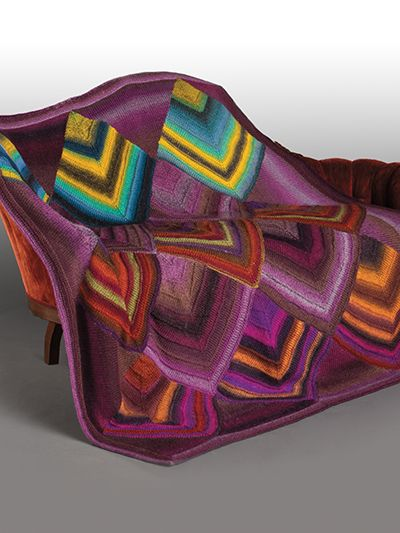 Free Knit Pattern Download -- This Moth Wing Mitered Afghan, designed by Michael Del Vecchio