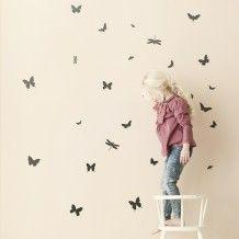Ferm Living muurstickers Vlinders