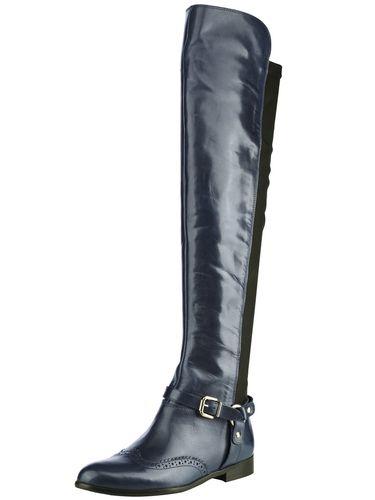 #BEST #CONNECTIONS #Damen #Langschaftstiefel #blau Kalb-Nappaleder. Verlängerte Schafthöhe vorn. Schaft mit Stretch hinten. Leder-Futter und -Innensohle. Flexible Laufsohle. Schaft-H/W ca. 53/35 cm, Absatzhöhe ca. 20 mm.