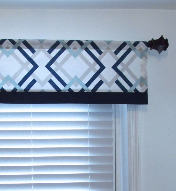Made To Order NAUTICAL Window Treatment Navy Light By OldStation