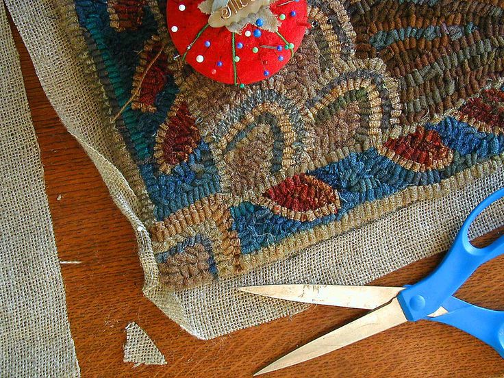 My Favorite Way To Finished My Hooked Rugs Is With A Crochet Edge. This Edge