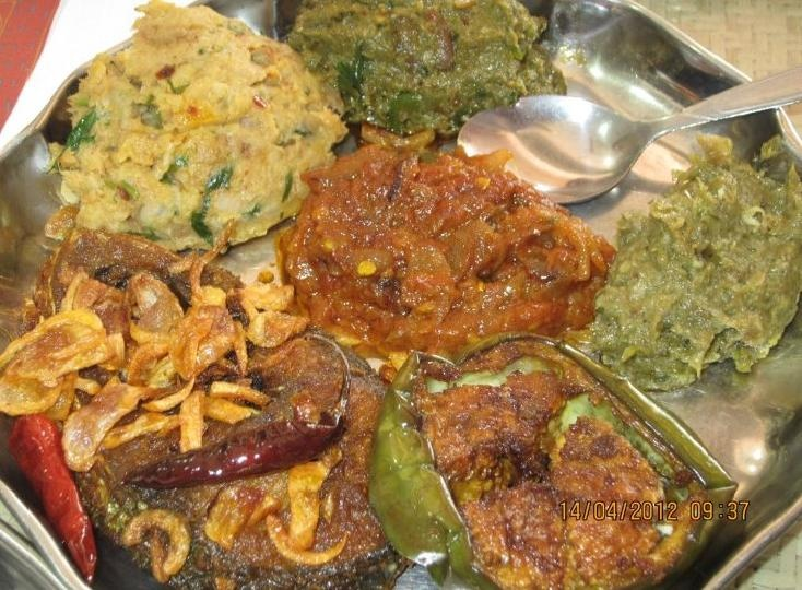 """Various types of Edible Mash.    In Bangladesh: during (April 14th each year); the NewYears Festivities, it's part of tradition to serve steamy white rice with small portions of """"Vorta"""" or edible mash (individually prepared from different types of root/veggies, fish, eggs, dried fish, spices/herbs).      There are variation - so this makes the experience truly unique.   Enjoy the visuals - and info.  More on"""