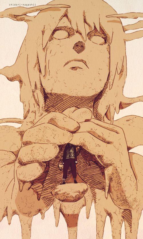 Karura protects Gaara, ser mãe é isso!