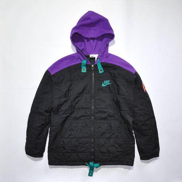 Rare Vintage NIKE AIR Jacket, Full Zip Windbreaker Multi Color Coat,... ($45) ❤ liked on Polyvore featuring nike