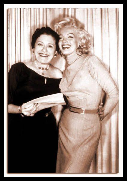 Louella Parsons & Marilyn Monroe