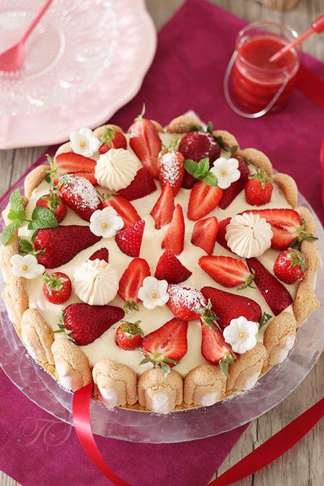 Charlotte fraises façon tiramisu