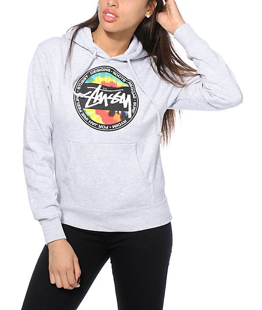 It's time to get radical with your style thanks to the Stussy tie dye dot graphic printed on this fitted hoodie cut from a soft and comfortable fleece material.
