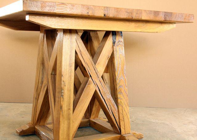Reclaimed solid oak table