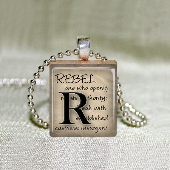 Scrabble Jewelry  Rebel Definition   Choose by MaDGreenCreations, $4.95