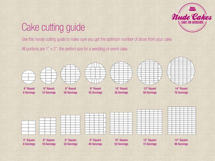 Cake Cutting Guide Celebration/Wedding Cakes Pinterest