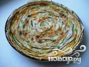Овощной пирог из пресного теста