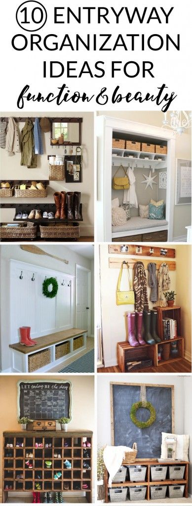 Inspiring entryway organization ideas