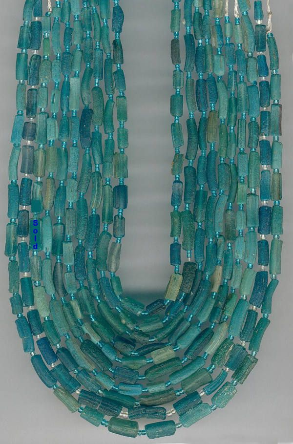 Ancient Persian glass beads, found in Afghanistan                                                                                                                                                                                 More