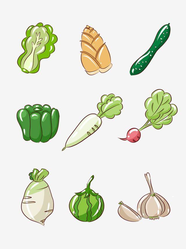 簡約蔬果手繪卡通蔬菜小元素 水果剪貼畫 果蔬 食品食物素材 Psd格式圖案和png圖片免費下載 ในป 2021 ผลไม อาหาร
