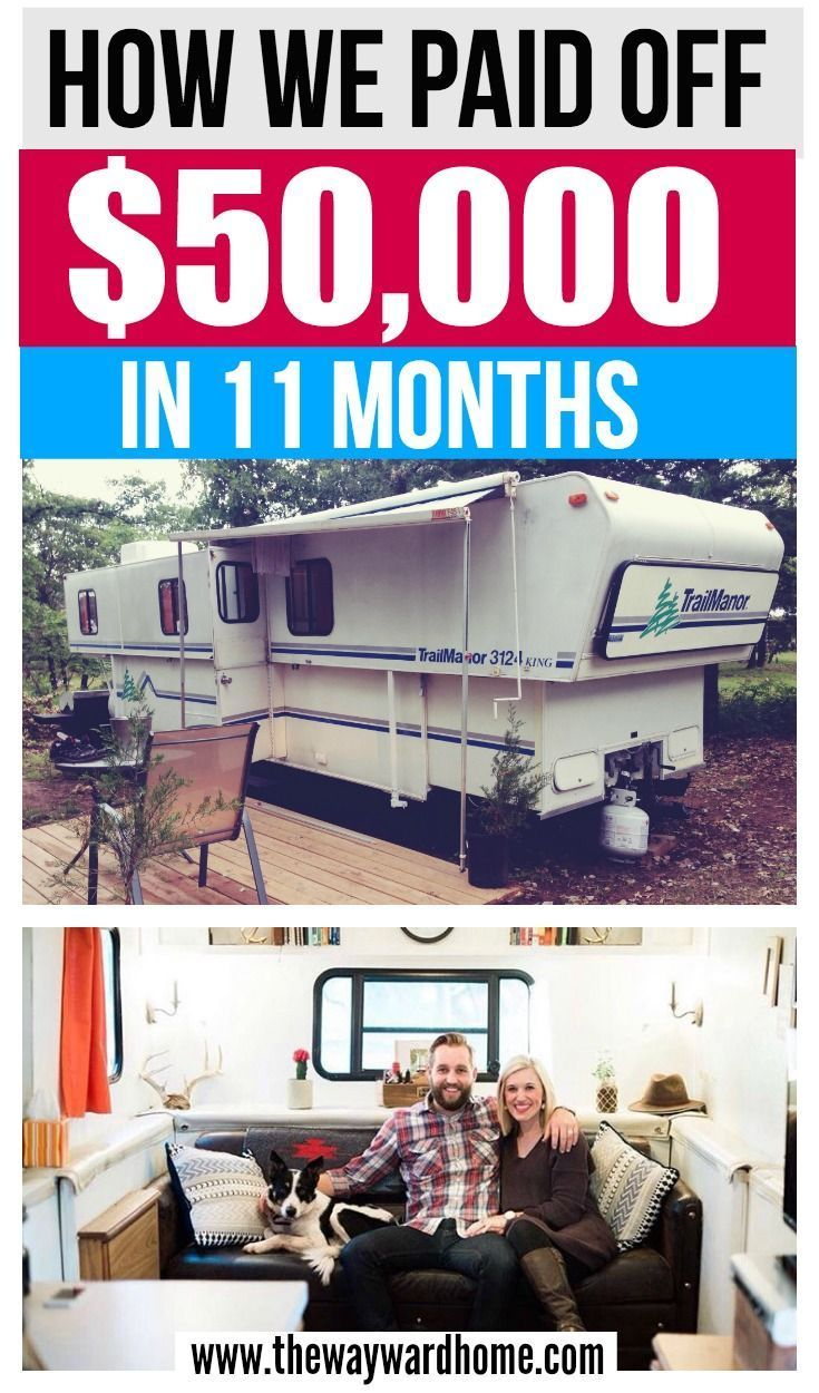 Young couple lives in a cheap RV to pay off $50,000 of debt