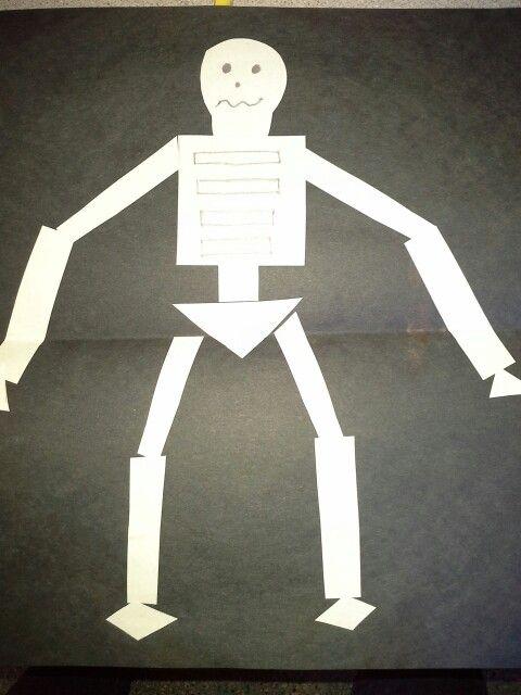preschool halloween shapely skeleton - Halloween Preschool Ideas