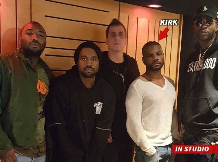 Kirk Franklin Hangsout with Kanye West During Waves Studio Session