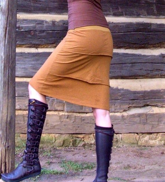 "Organic hemp ""rufflebutt skirt"" from another awesome shop on etsy.  gaiaconceptions.  Her work is beautiful."