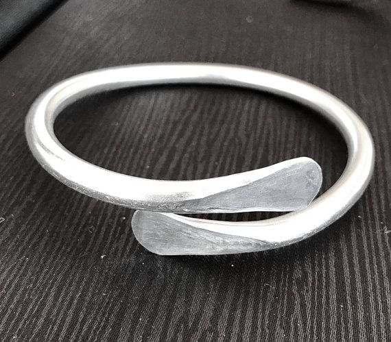 Love is bracelet. Super light weight. And looks great mixed with other bracelets. Silver Bangle Bracelets / Silver bracelets for Women / Wire
