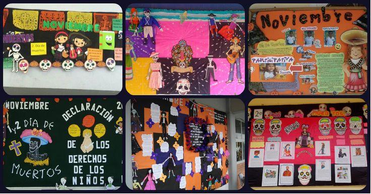 Completa recopilación de ideas para el periódico mural del mes de NOVIEMBRE.