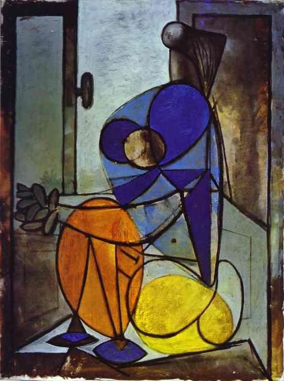 'junges mädchen in einem sessel', öl von Pablo Picasso (1881-1973, Spain)