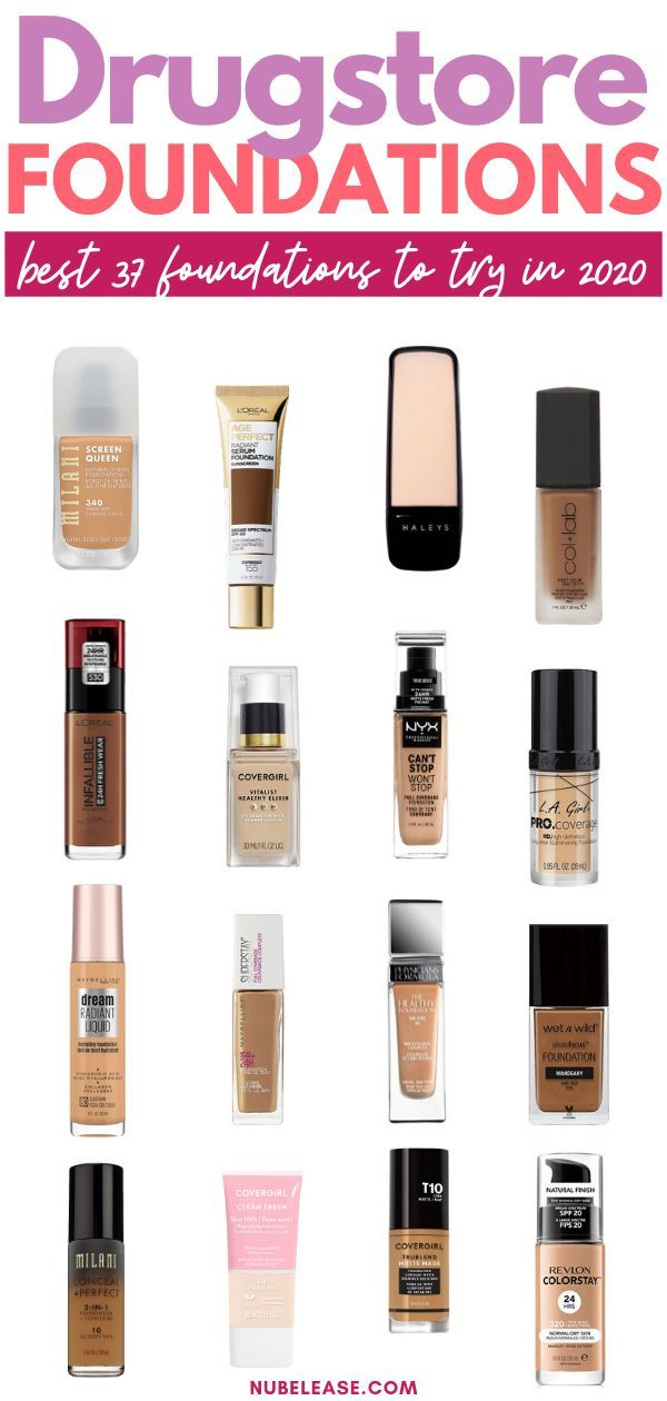 The 37 Best Drugstore Foundations To Try In 2020 In 2020 Best Drugstore Foundation Best Foundation For Oily Skin Best Foundation For Dry Skin