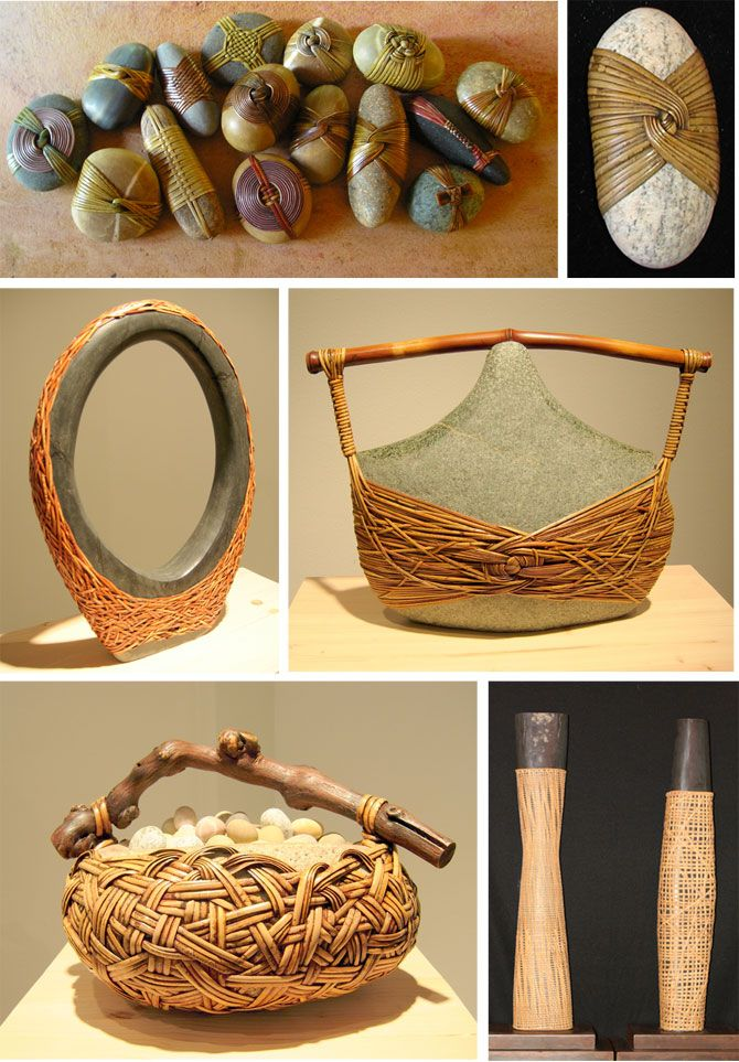 """The smaller stone pieces are called """"Small Blessings"""" by Seattle artist Deloss Webber."""