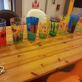 Kinderfeestje vazen schilderen
