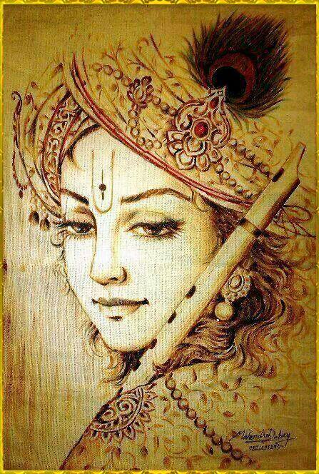 SHRI KRISHNA by VISHNU108.deviantart.com on @deviantART
